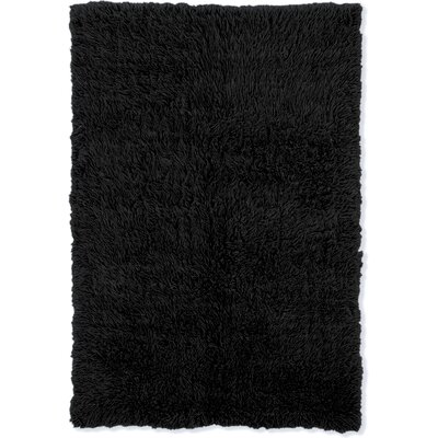 Hand-Tufted Black Area Rug Rug Size: 10 x 16
