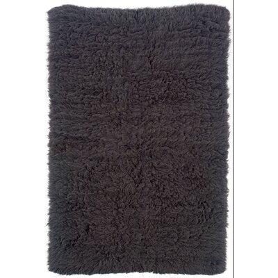 Brandie Hand-Woven Black Area Rug Rug Size: Rectangle 36 x 56