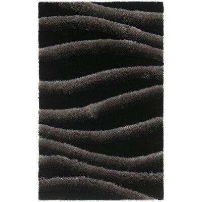 Anna Black/Grey Area Rug Rug Size: 26 x 4