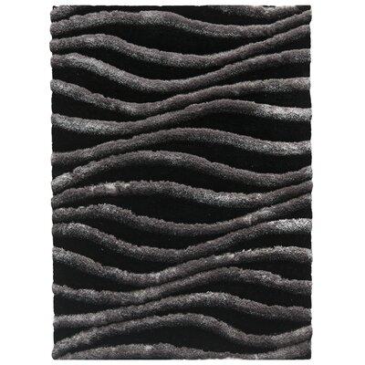 Anna Black/Grey Area Rug Rug Size: 5 x 8