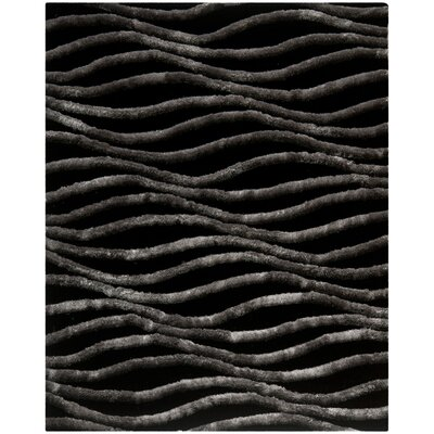 Anna Black/Grey Area Rug Rug Size: Rectangle 26 x 4