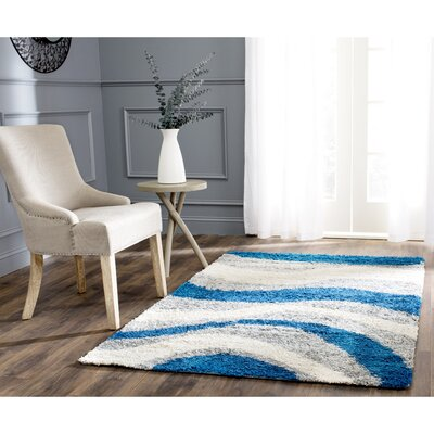 Swanson Gray/Blue Area Rug Rug Size: Rectangle 6 x 9