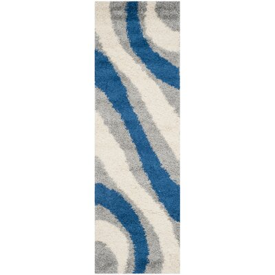 Swanson Machine Woven Grey/Blue Area Rug Rug Size: Runner 23 x 7