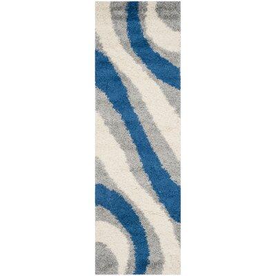 Swanson Machine Woven Grey/Blue Area Rug Rug Size: Runner 23 x 7