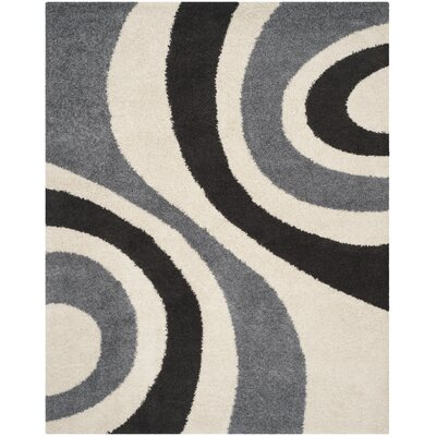 Swanson Ivory & Grey Contemporary Area Rug Rug Size: Rectangle 8 x 10