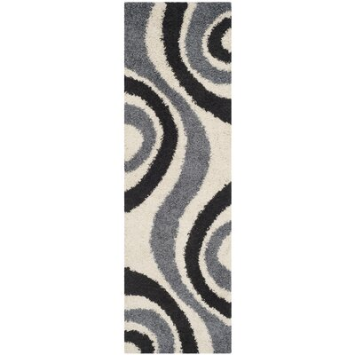 Swanson Ivory & Grey Contemporary Area Rug Rug Size: Runner 23 x 7