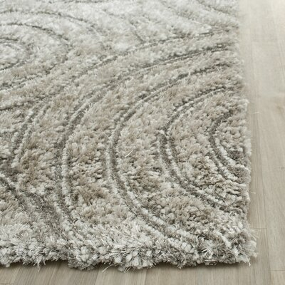 Swanson Silver Contemporary Rug Rug Size: Runner 23 x 8