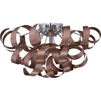 Loredo 5-Light Flush Mount Finish: Copper