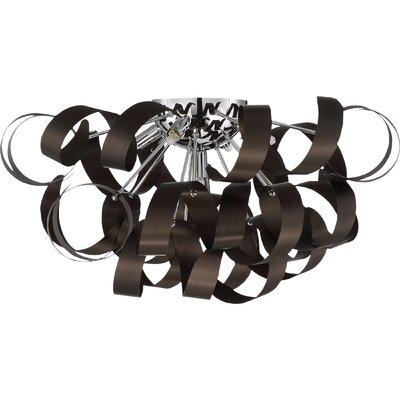 Loredo 5-Light Flush Mount Finish: Bronze