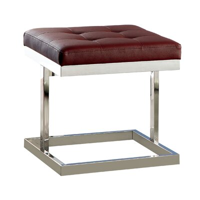 Fenoglio T-Braced Ottoman Upholstery: Red