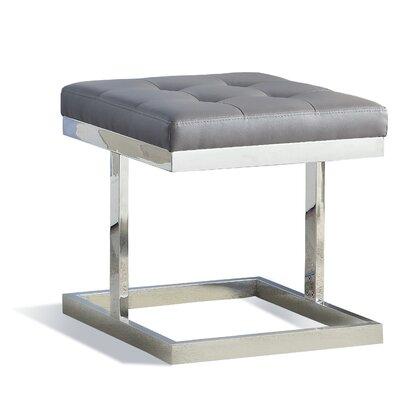 Fenoglio T-Braced Ottoman Upholstery: Gray