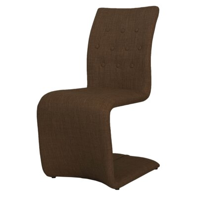Arche Contemporary Side Chair (Set of 2) Chair Upholstery: Brown