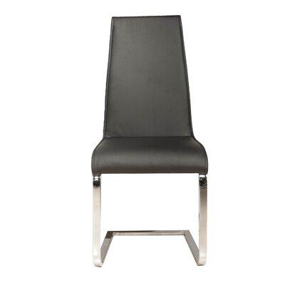 Arche Chrome Leg Side Chair (Set of 2) Upholstery: Black