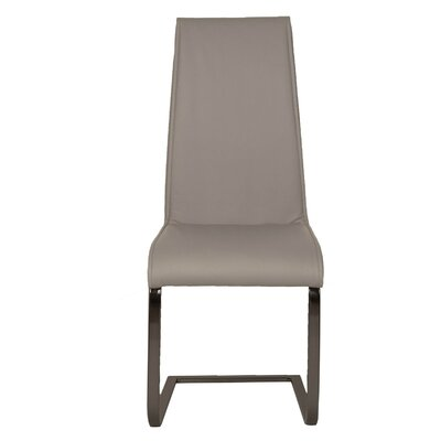 Arche Chrome Leg Side Chair (Set of 2) Upholstery: Grey