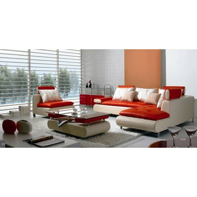 Orren Ellis ORNE1445 Corktown 4 Piece Sectional Sofa Set