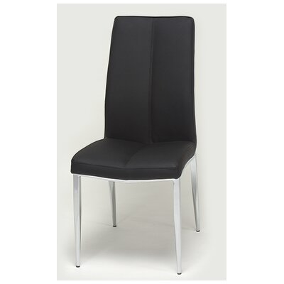 Heather Side Chair (Set of 4) Upholstery: Black