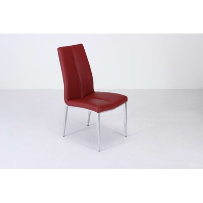 Heather Side Chair (Set of 4) Upholstery: Red