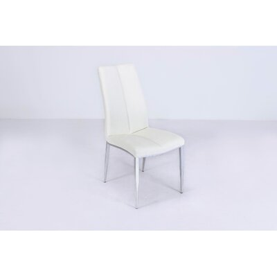 Heather Side Chair (Set of 4) Upholstery: White