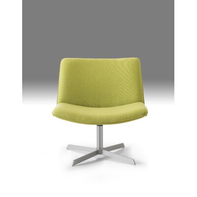 Balch Swivel Side Chair Upholstery: Green