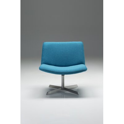 Balch Swivel Side Chair Upholstery: Blue
