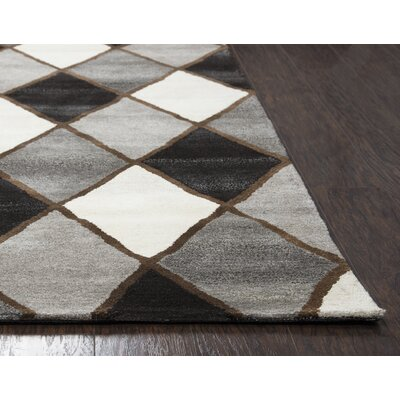 Pavonis Hand-Tufted Gray Area Rug Rug Size: Runner 26 x 8