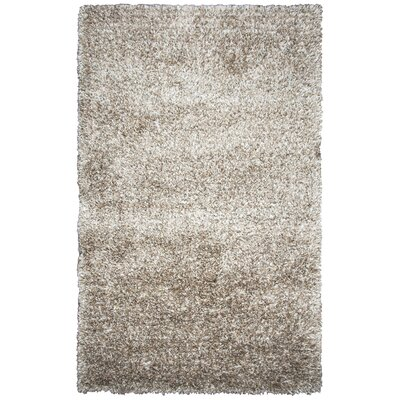 Ishtar Hand-Tufted Light Brown Area Rug Rug Size: Round 3