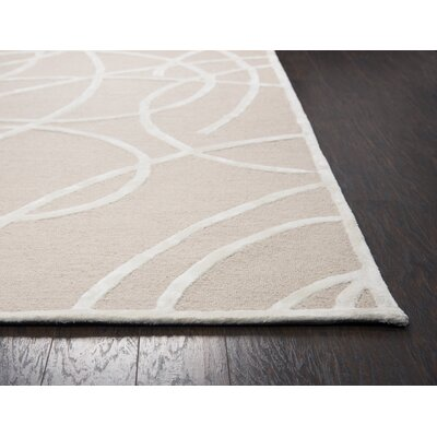 Climenhaga Hand-Tufted Brown/White Area Rug Size: Runner 26 x 8