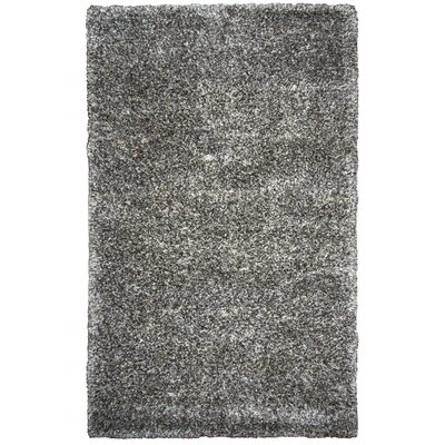Ishtar Hand-Tufted Black Area Rug Rug Size: Rectangle 5 x 8