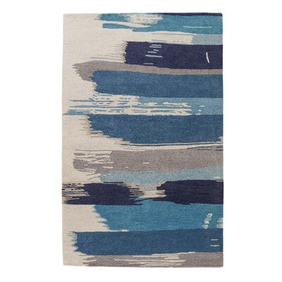 Nick Blue & Ivory Floral Area Rug Rug Size: Rectangle 8 x 11