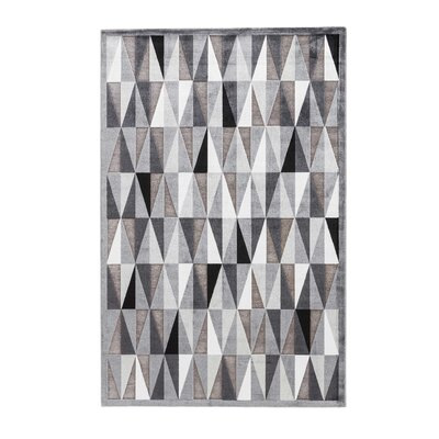 Elvis Machine-Woven Chenille Frost Gray Area Rug Rug Size: Rectangle 2' x 3'