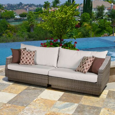 Alfonso Sofa with Cushions Fabric: Moroccan Cream