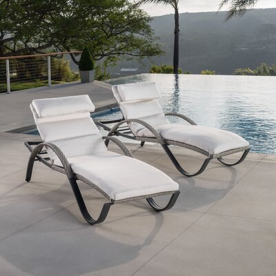 Alfonso Chaise Lounge with Cushion Fabric: Moroccan Cream