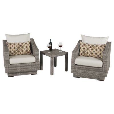 Alfonso 3 Piece Deep Seating Group with Cushion Fabric: Moroccan Cream