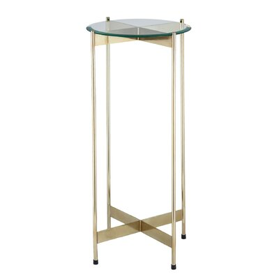 Fischer End Table Color: Gold