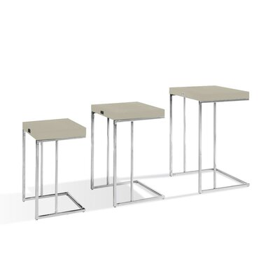 Traditions 3 Piece Nesting Tables Finish: Champagne