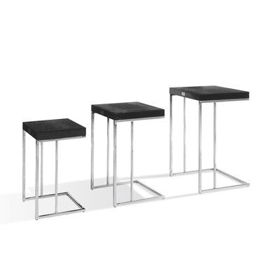 Traditions 3 Piece Nesting Tables Finish: Black