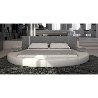 Clower Upholstered Eco-Leather Platform Bed Size: Eastern King