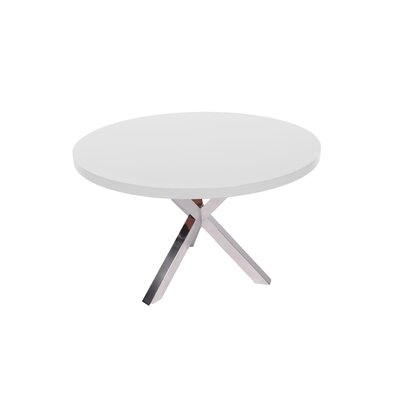 Bathampton Dining Table Finish: Shining White Lacquer Top