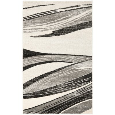 Gordon Light Grey/Ivory Rug Rug Size: 6 x 9