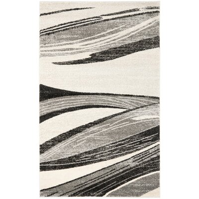 Gordon Light Grey/Ivory Rug Rug Size: 5 x 8
