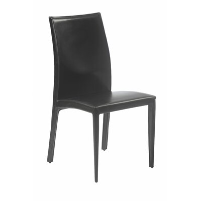 Barnesville Side Chair Upholstery: Black