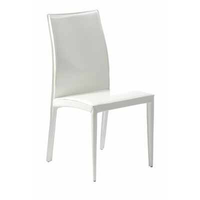 Melanie Side Chair Upholstery: White