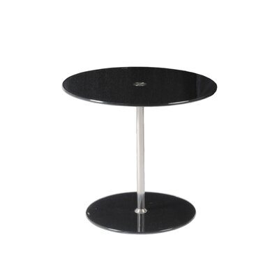 Sandrine End Table Color: Black Printed