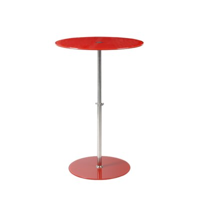 Sandrine End Table Color: Red Printed