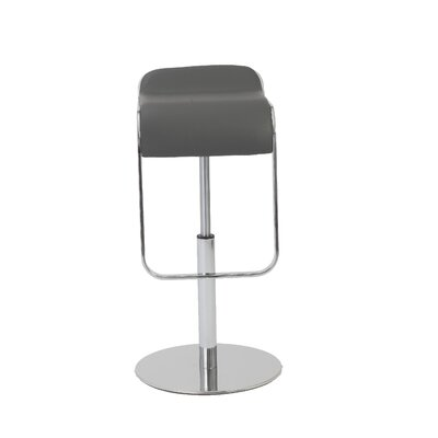Hennessy Adjustable Height Swivel Bar Stool Upholstery: Gray