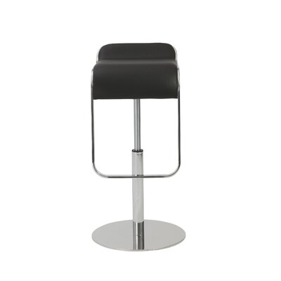 Hennessy Adjustable Height Swivel Bar Stool Upholstery: Black
