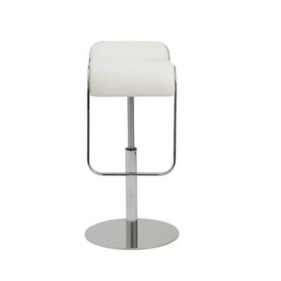 Crites Adjustable Height Swivel Bar Stool Upholstery: White