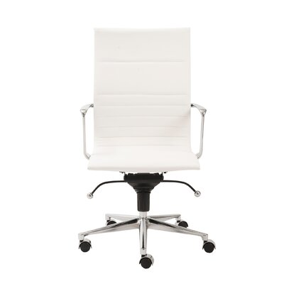 Keeter Contemporary Desk Chair Upholstery: White