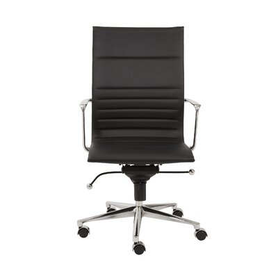 Keeter Contemporary Desk Chair Upholstery: Black