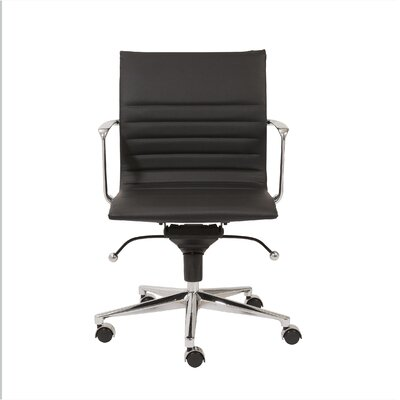 Keeter Metal Desk Chair Upholstery: Black
